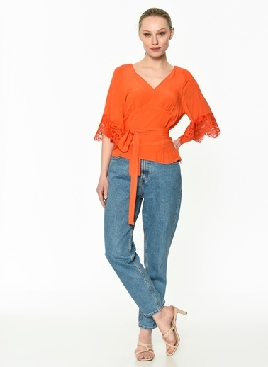 Ipekyol Kadın  Bluz IS1190006091 Oranj